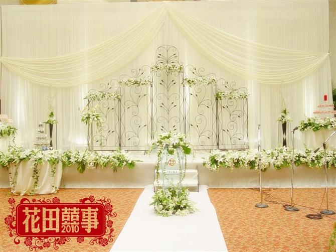 欧式婚礼背景布置