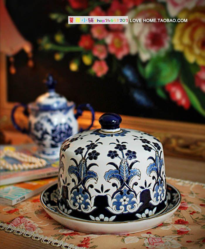 凹凸质感手绘青花瓷