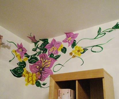 幼儿园睡室墙面彩绘图片