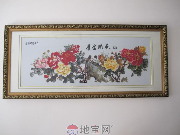 十字绣花开富贵