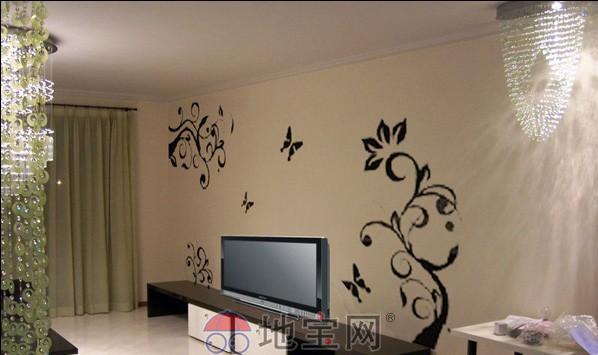 墙面彩绘!电视机背景卧室沙发背景墙