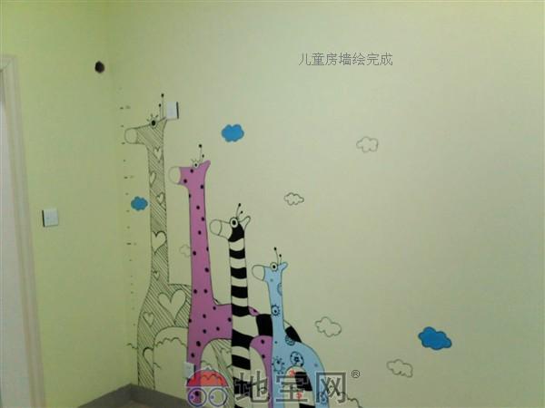 幼儿园走廊墙体彩绘; 田品墙面彩绘